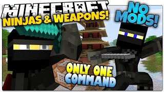 getlinkyoutube.com-NINJAS IN MINECRAFT | Smoke Bombs, Shuriken & More | Only One Command (Minecraft Vanilla Mod)