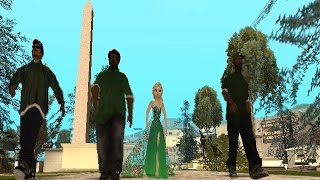 Elsa and Anna in Los Santos !!!(GTA SA Frozen parody)