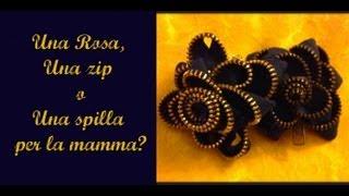getlinkyoutube.com-Festa della Mamma: creiamo una spilla con una ZIP (Fai da Te) -Arte per Te-