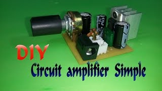 getlinkyoutube.com-How To Make Circuit amplifier Simple v2 - IC TDA2003