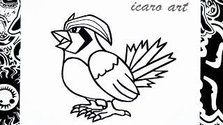 getlinkyoutube.com-como dibujar a pidgeot | how to draw pidgeot | pokemon