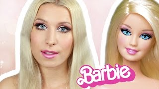 getlinkyoutube.com-♦ Makijaż na Halloween: Barbie ♦