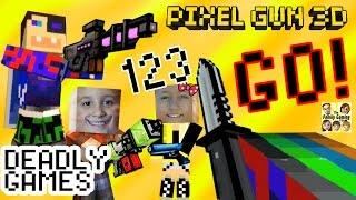 getlinkyoutube.com-Let's Play Pixel Gun 3D: DEADLY GAMES & Science Lab + Duddy got a new Skin! (Dad & Kids)