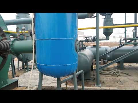 OING waste tyre pyrolysis plant disposal of waste tyre to fuel oil video