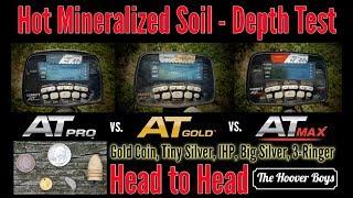 Garrett AT Max vs AT Pro & AT Gold  - Hot Mineralized Soil Deep Depth Test Review
