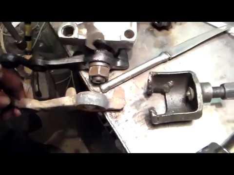Как снять сошку с рулевого механизма (редуктора) ВАЗ