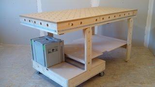 getlinkyoutube.com-Рабочий стол для мастерской (workbench for workshop)