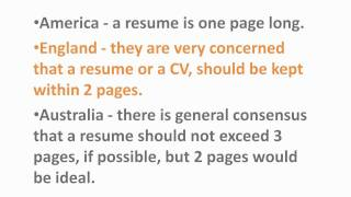 australian resume how many pages how many pages should my resume