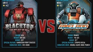 Real Steel WRB Blacktop VS Axelrod NEW graphics blows