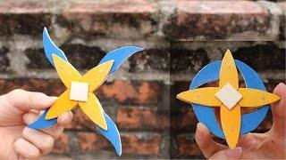 getlinkyoutube.com-Cómo hacer un 4 ramas de Shuriken | Ninja estrella  | palitos de helado