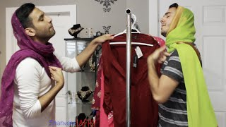 getlinkyoutube.com-When GIRLS pick the same dress! /With ZAID ALI
