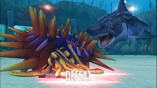 getlinkyoutube.com-MEGALODON DEFEAT AMMONITE - SEA BATTLE EP2 || Jurassic World The Game