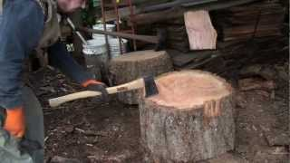 getlinkyoutube.com-Split Big Rounds of Firewood Quick, Easy and very little Effort!