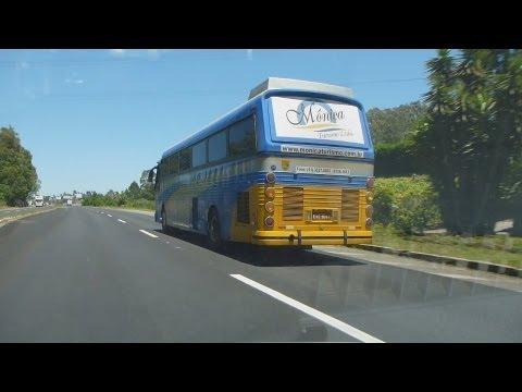 Ônibus antigo 'Cometa-Dinossauro' RS 122 Caxias do Sul - CMA Flecha Azul VI-B Leito Scania K-113CLB