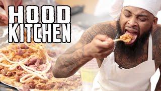 getlinkyoutube.com-Hood Kitchen Ep. 1 - Noodle Pizza Starring King Keraun #NewSeries