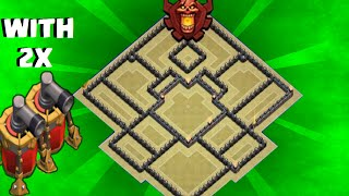getlinkyoutube.com-Clash of Clans - Th9 war base / trophy base / with 2 air sweeper  / speed build
