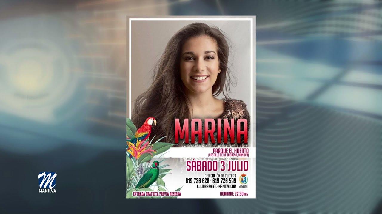 Este sábado actuará la cantante Marina