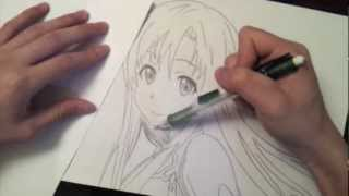 getlinkyoutube.com-Drawing Asuna Yuuki! - Sword Art Online
