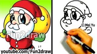 getlinkyoutube.com-How to Draw Santa - Fun Things to Draw Art Lessons - Fun2draw