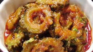 getlinkyoutube.com-Karela sabzi (Karlyachi Bhaji / Bitter-gourd Masala)