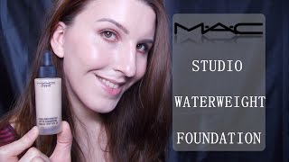 getlinkyoutube.com-MAC Studio Waterweight Foundation Review / German / Flickchen