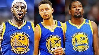 LeBron James Traded to Warriors! LeBron James Joins Stephen Curry and Kevin Durant on the Warriors
