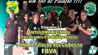 1 Ano de Filiação dos Clubes na FBVA