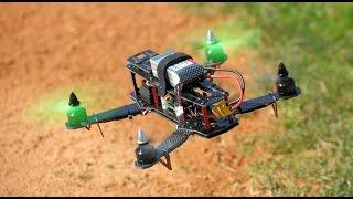 getlinkyoutube.com-AeroSky ZMR250 Carbon Fiber Mini Quadcopter CC3D