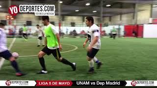 UNAM vs. Deportivo Madrid Liga 5 de Mayo Soccer League