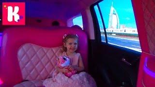 getlinkyoutube.com-День Рождения Кати Дубаи День #5 катаемся на розовом лимузине Парк Бабочек Dubai Miracle Garden