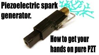 getlinkyoutube.com-Piezoelectric spark generator.