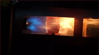 getlinkyoutube.com-Pt 2 HHO Gas-Hexane Vapors-Propane Gas-HHO Gas Flamethrower-Crucible Melting Technology 11-28-2016