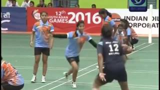 2016   South Asian Games   Kho kho   Women's Semi Final Match   India vs Sri Lanka width=