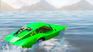 getlinkyoutube.com-GTA 5 Funny Moments - Sailing With Cars - (GTA V Online Gameplay)