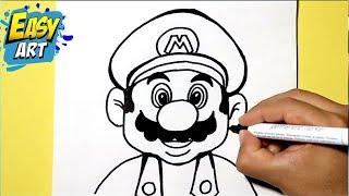 getlinkyoutube.com-Como dibujar a super mario bros  / how to draw super Mario bros