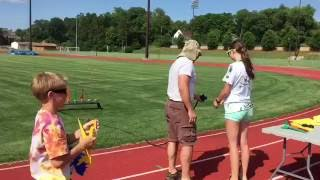 STEM camp rocket launch