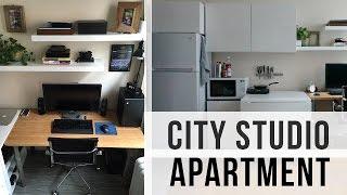 getlinkyoutube.com-City Studio Apartment Tour (240 sq. feet)