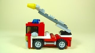 getlinkyoutube.com-How To Build Lego FIRE TRUCK - Lego Creator 6911