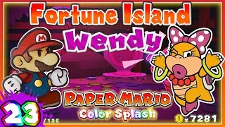 getlinkyoutube.com-ABM: Paper Mario Color Splash *Fortune Island & Wendy* Walkthrough 23!
