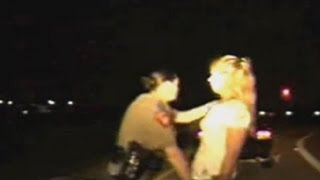 getlinkyoutube.com-Police Search Women's Vaginas on Side of the Road (Video)