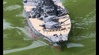 getlinkyoutube.com-ラジコン 主砲可動 戦艦大和を作ってみた。