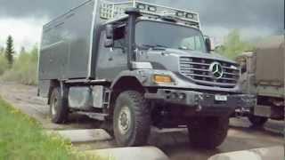 getlinkyoutube.com-Geländefahrkurs im Mowag Testgelände mit Expeditionsmobil Mercedes Zetros