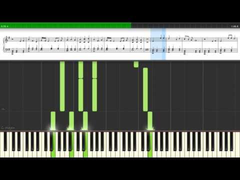 FFXV - Hammerhead Piano Tutorial (synthesia)