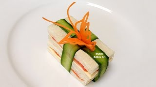 getlinkyoutube.com-How To Make A Butterfly From Carrot Garnish On Sandwich - Beginners Lesson 72 By Mutita EdibleArt