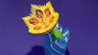 getlinkyoutube.com-3D origami flower lily (lotus) tutorial