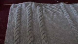 getlinkyoutube.com-Cable blanket with celtic knot