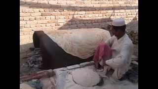getlinkyoutube.com-Have you ever seen such a big and thin bread (chapati) with Shadi Mubarak writing on?