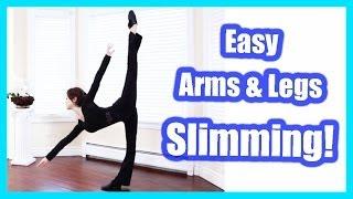 getlinkyoutube.com-How To: Get Slim Arms & Legs Easily!【二の腕と太ももを細くする方法】Ballet Fitness