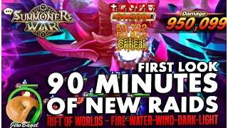 getlinkyoutube.com-SUMMONERS WAR : 90 Minutes of New Raids! (first look) (Fire/Water/Wind/Dark/Light)