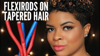 getlinkyoutube.com-Natural Hair | Fly or Fail? Flexirod Set on Tapered Hair